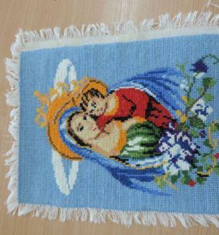 Obraz haft krzyżykowy  Maryja