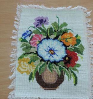 Obraz haft krzyżykowy Dzbanek Kwiatów