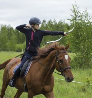 Nauka łucznictwa konnego